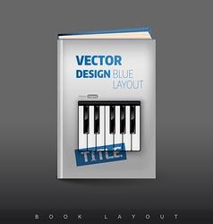Modern abstract brochure as book Football theme vector image vector image
