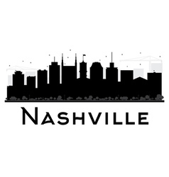 Nashville city skyline black and white silhouette vector