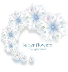 paper flower background vector image vector image