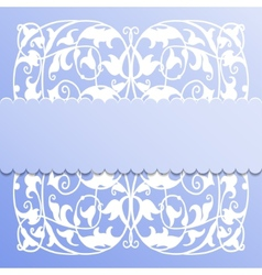 paper frame on blue background vector image