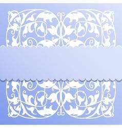 paper frame on blue background vector image vector image