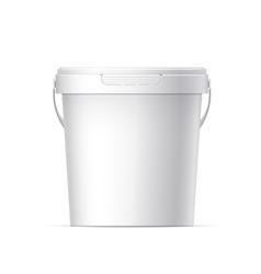 Plastic bucket vector