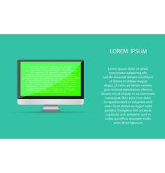 Realistic blank computer monitor icon vector image