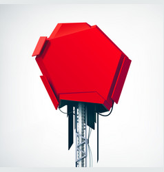 Realistic red technical high-tech object vector