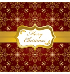 red and gold Christmas wrapping vector image vector image