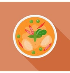 Red curry vector