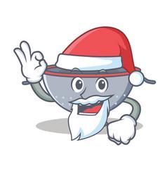 Santa colander utensil character cartoon vector