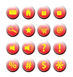 set of button icon eps vector image