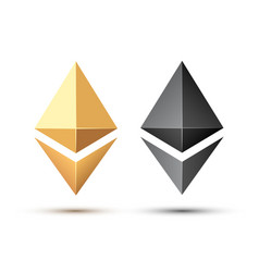 Set of ethereum sign vector