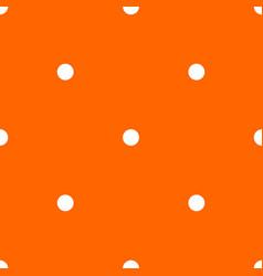 tile pattern white polka dots on orange background vector image vector image