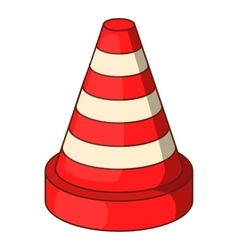Traffic cone icon cartoon style vector
