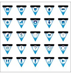 Triangle icons vector image vector image