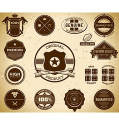 Vintage labels collection 10 vector