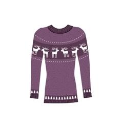 Winter warm sweater handmade svitshot jumper vector