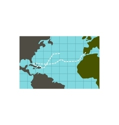 Christopher columbus voyage icon flat style vector