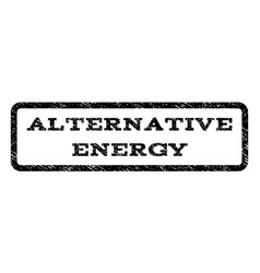 Alternative energy watermark stamp vector