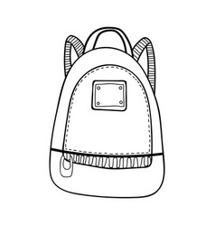 Bag backpack fashion accessory black and white vector
