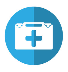 Suitcase first aid medical shadow vector