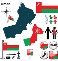 Map of oman vector