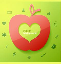 Health green background vector
