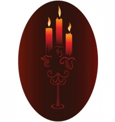 Candlesticks with candles vector