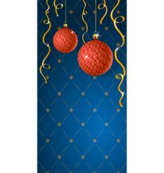 Greeting card with christmas decoratio vector