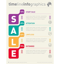 Sale info graphic time line business web template vector