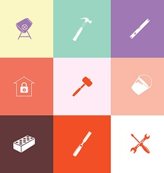 Industrial tools set vector