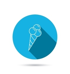 Ice cream with three balls icon sweet dessert vector