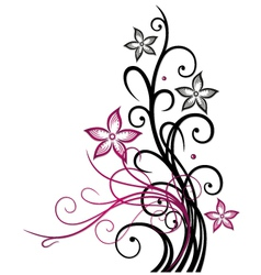 Abstract floral element vector image vector image