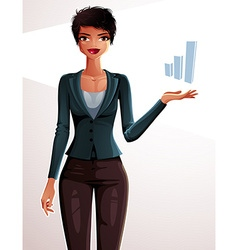 Attractive businesswoman full body portrait young vector