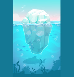big iceberg in the ocean vector image