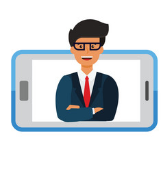 Business mobile application businessman i vector