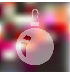 Christmas ball icon on blurred background vector