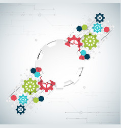 cogwheel hi-tech digital technology and vector image