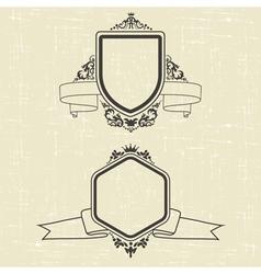 contour emblems vector image vector image