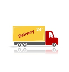 Delivery car for your design vector image