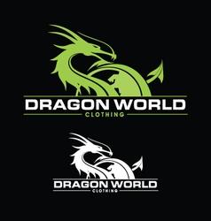 Dragon world vector