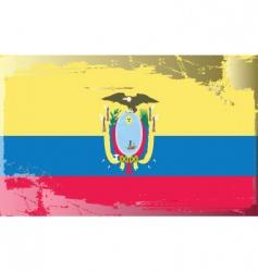 Ecuador national flag vector