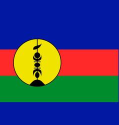 Flag new caledonia flat style vector