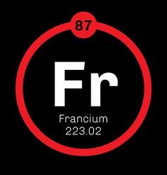 Francium chemical element vector