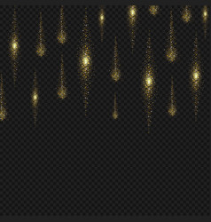 gold glitter stardust background sparkling lines vector image vector image