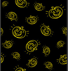 Halloween pumpkin pattern vector