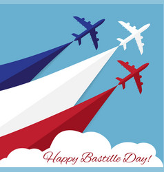 Happy bastille day independence day of france vector