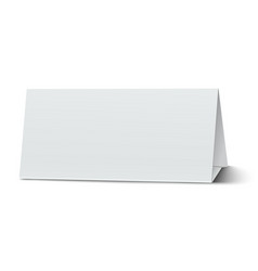 Horizontal elongate oblong blank paper table card vector