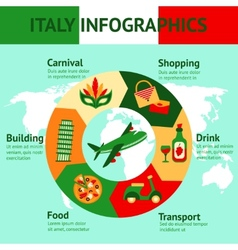Italy travel infographics vector