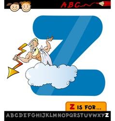 Letter z with zeus cartoon vector