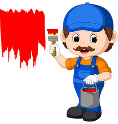 professional painter cartoon vector image