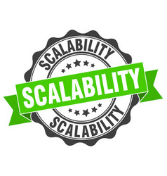 Scalability stamp sign seal vector