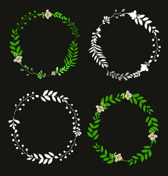 Subtle floral wreath vector